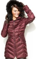 Laundry By Shelli Segal Fauxfurhooded Quilted Down Puffer Coat - Lyst