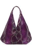 VBH Napsack Python Hobo Bag Purple - Lyst
