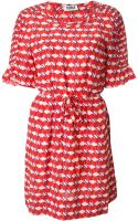 Sonia By Sonia Rykiel Cherry Print Draped Dress - Lyst
