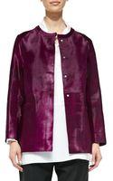 Shamask Calf Hair Cardigan Jacket - Lyst