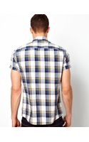 Asos Check Shirt in Short Sleeve - Lyst