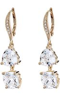 Judith Jack Golden Shine On Double Cz Drop Earrings - Lyst