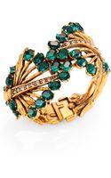 Oscar de la Renta Jeweled Leaf Cuff Bracelet - Lyst