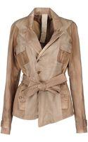 Patrizia Pepe Leather Outerwear - Lyst