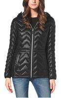 Michael Kors Asymmetrical Zip Wool Blend Coat - Lyst
