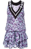 Poupette Floral Tired Ruffle Dress - Lyst