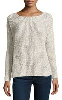 Joie Long Sleeve Cable Knit Sweater Natural Medium - Lyst
