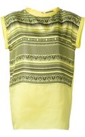 Fausto Puglisi Relief Print Top - Lyst