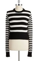 Michael by Michael Kors Cropped Striped Sweater - Lyst
