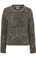 M Missoni Metallic Knit Pullover - Lyst