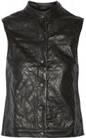 Rag & Bone Quilted Leather Vest - Lyst