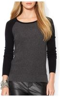 Ralph Lauren Lauren Raglan Sleeve Cashmere Sweater - Lyst