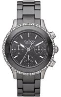 DKNY Womens Chronograph Black Ceramic Bracelet 42mm - Lyst