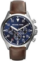 Michael Kors Oversize Tan Leather Gage Chronograph Watch - Lyst