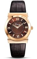 Ferragamo Vega Brown Leather Strap Watch 38mm - Lyst