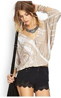 Forever 21 Tie Dye Moment Surplice Top - Lyst