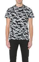 Paul Smith Tape-print Jersey T-shirt - Lyst