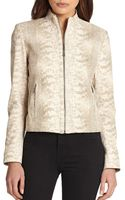 Elie Tahari Leather Cleary Jacket - Lyst