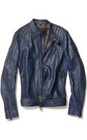 Belstaff Kirkham Tumbled Leather Biker Jacket - Lyst