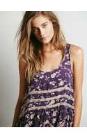 Free People Printed Voile and Lace Slip - Lyst