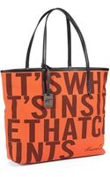 Kenneth Cole Whats Inside Canvas Tote - Lyst