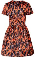 Matthew Williamson Cotton Blend Floral Twine Print Dress - Lyst