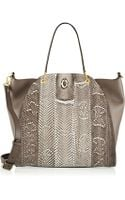 Maiyet Peyton Large Cobra and Leather Tote - Lyst
