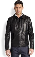 Ferragamo Leather Jacket - Lyst