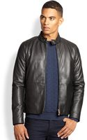 Armani Leather Jacket - Lyst