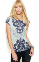 Inc International Concepts Petite Studded Printed Tee - Lyst