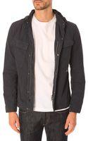 C P Company Black Iris Shirt with Removable Hood - Lyst