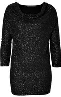 Donna Karan New York Draped Cashmere Sequin Tunic - Lyst
