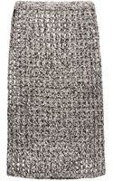 Proenza Schouler Open Crochet Knit Pencil Skirt - Lyst