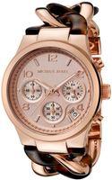 Michael Kors Womens Chronograph Rose-tone  Tortoise Resin Bracelet Rose-tone Dial - Lyst