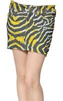 Just Cavalli Stretch Mini Denim Skirt - Lyst