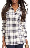 Ralph Lauren Petites Plaid Cotton Shirt - Lyst