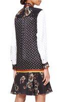 Jason Wu Longsleeve Printed Tunic Dress - Lyst