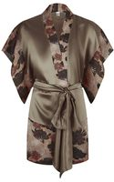 Carine Gilson Floral Silk Kimono - Lyst