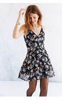 Glamorous Floral Chiffon V Back Mini Dress - Lyst