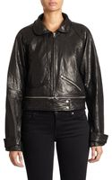 Rebecca Minkoff Stone Leather Bomber Jacket - Lyst