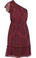 Anna Sui Printed Silk-georgette Dress - Lyst