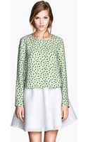 H&M Patterned Blouse - Lyst