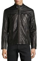 Marc New York By Andrew Marc Vine Double Zip Leather Jacket Black Xxl - Lyst