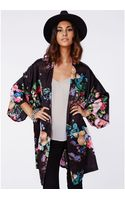 Missguided Raee Floral Kimono - Lyst