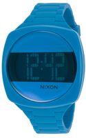 Nixon Womens Dash Digital Blue Silicone Blue and Black Dial - Lyst