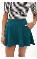 Forever 21 Pocket Skater Skirt - Lyst