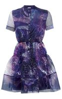 Matthew Williamson Marble Rainbow Organza Shirt Dress - Lyst