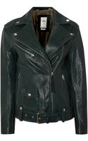 Replay Leather Jacket - Lyst