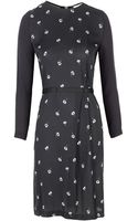 Band Of Outsiders Daisy Embroidered Dress with Contrast Sleeve - Lyst