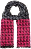 Marc By Marc Jacobs Terrence Houndstooth Woolblend Scarf - Lyst